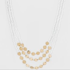 Nwt Baublebar White layered necklace